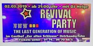 Revival Party @ Zur Alten Schleuse | Ostrhauderfehn | Niedersachsen | Deutschland