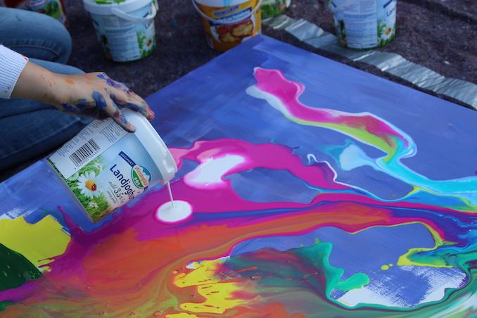 Kunstschule Zinnober Acrylic Pouring