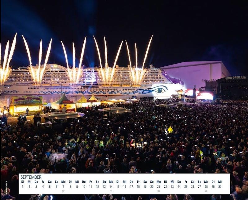 Kalendarium Jahreskalender 2020 Meyer Werft Traumschiffe Papenburg