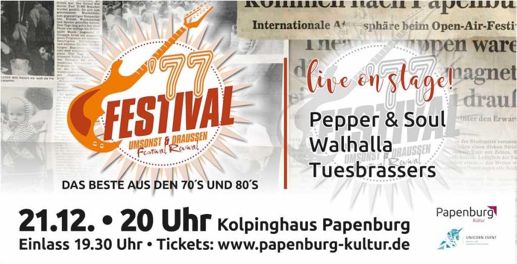 Papenburger 40 Jahre später Festival im Kolpinghaus
