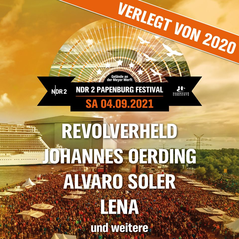Line Up NDR 2 Papenburg-Festival